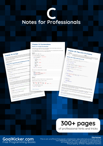 Free C Programming Book