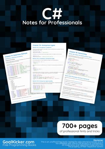 Free C# Programming Book
