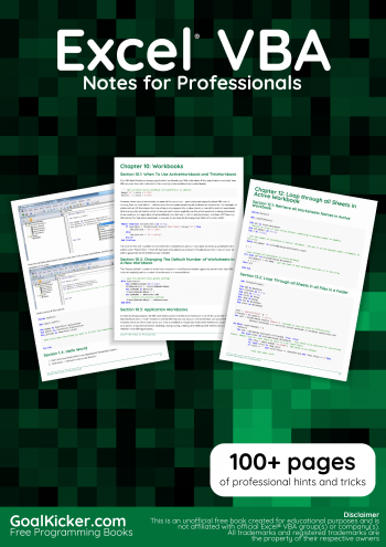 Free Excel VBA Book