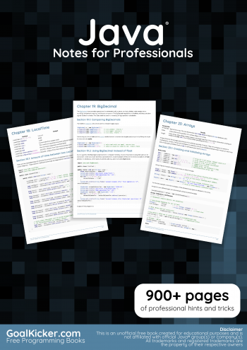 Free Java Programming Book