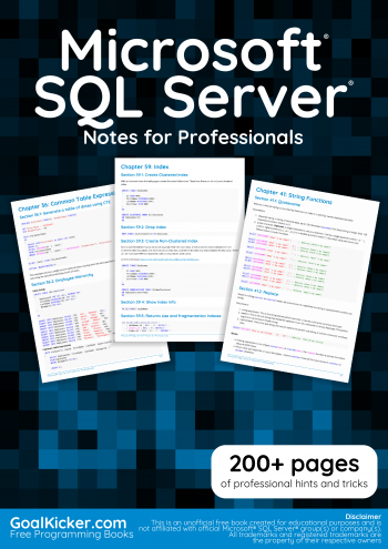 Microsoft SQL Server book