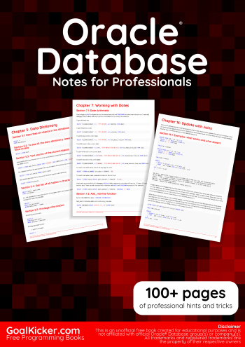 Free Oracle Database Book
